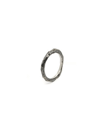 Filimoniuk, AX BLACK / silver ring