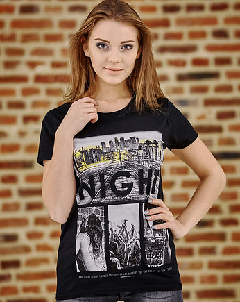 czarna koszulka, T-shirt damski UNDERWORLD One night in L.A.