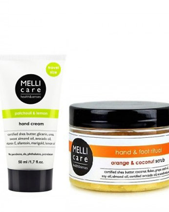 MELLI care, foot cream 50ml + scrub 330g