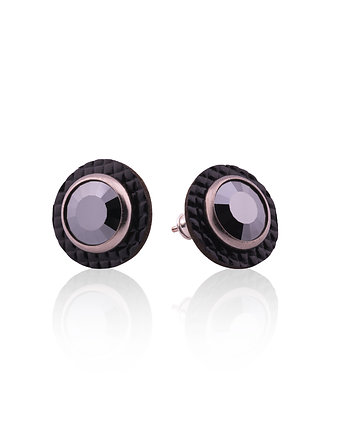 Joccos Design, Round Small Leather Earrings No. 4
