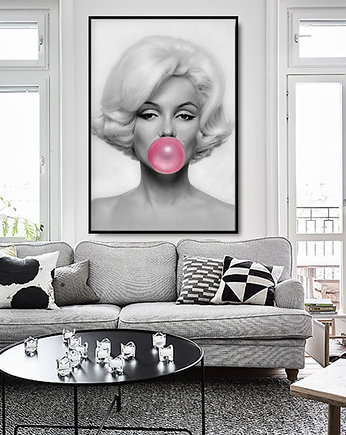 balon, MARILYN Monroe WITH BUBBLE GUM - dekoracja