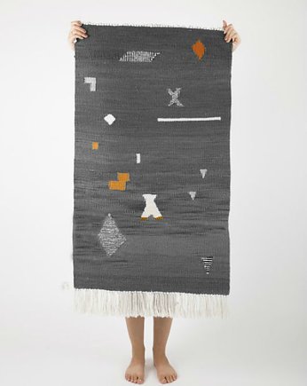 Tartaruga studio, RANDOM SHAPES gray | kilim 50x80