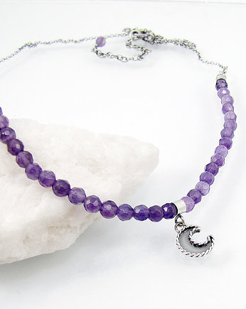 Amade Studio, Moon charm necklace with amethyst