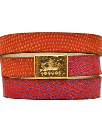 Joccos Design, Bogota Triple Wrap Pink-Orange Bracelet