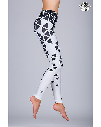 Legginsy Triángulo Negroo High - White
