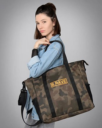 torba na fitness, Torba  Diaper Bag Carry All camo-orange