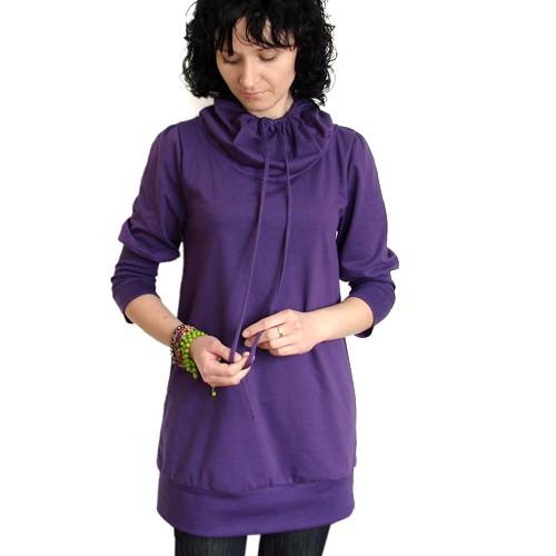 56c874f907 fioletowa tunika-sukienka M - bluzki - tuniki - Pakamera.pl