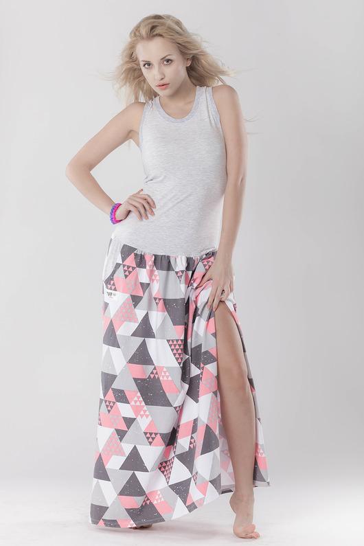 DRESS.BOXING triangle long