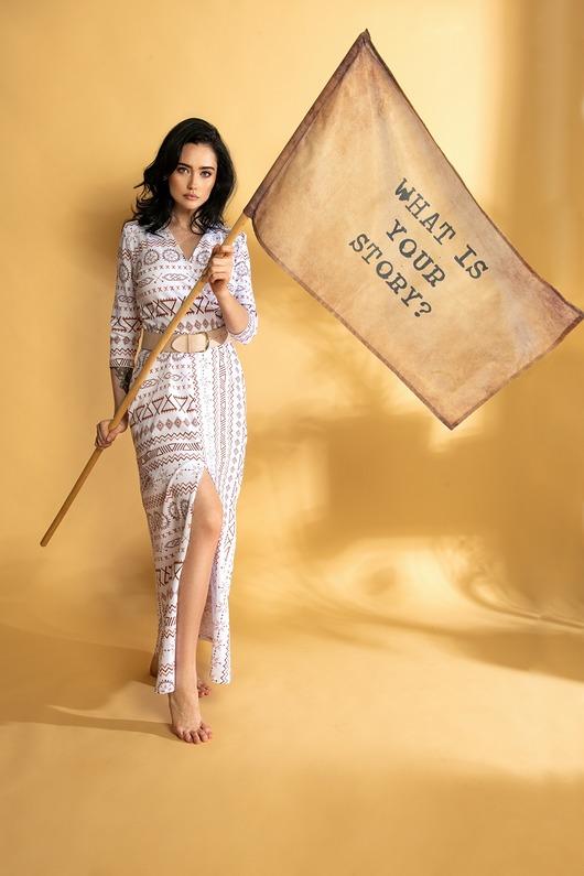 Elegancka długa sukienka maxi PREMIUM WZORY