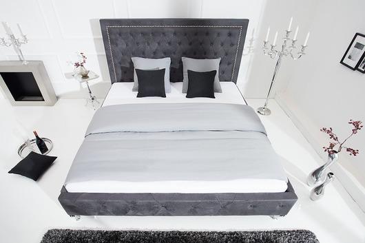 Łóżko Extravagancia, szare, MDF, 38x190x215 cm
