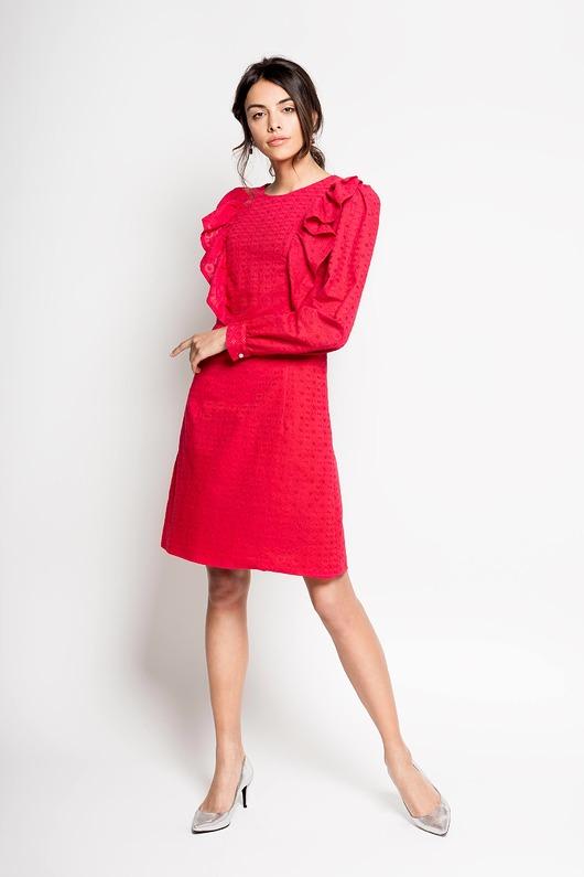 SHIZEN - haftowana bawełniana sukienka