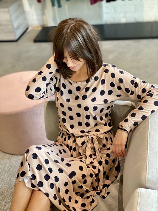 sukienki - midi-dots dress