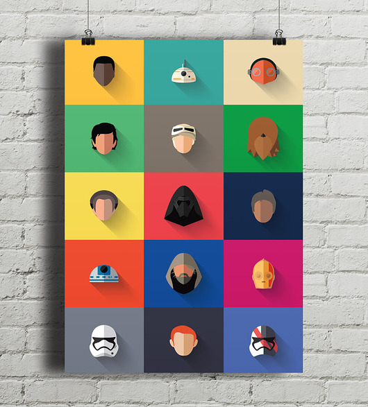 plakaty-Star Wars - New Icon Set - plakat giclee A2