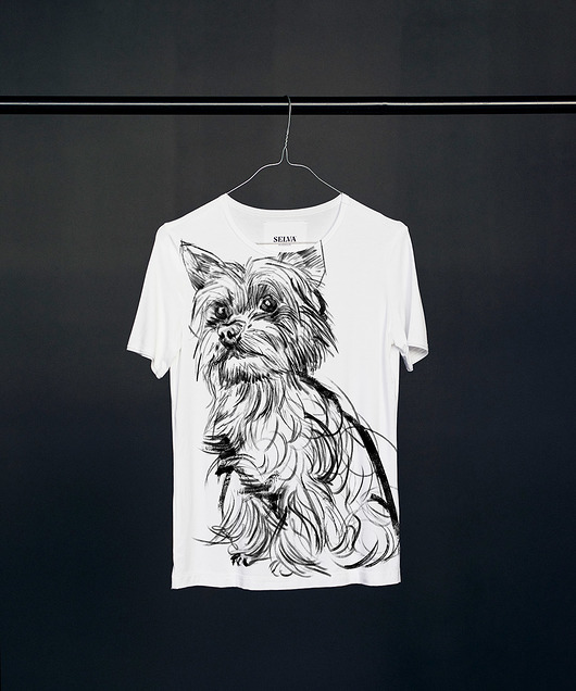 bluzki - t-shirty-Yorkshire-Terrier t-shirt woman