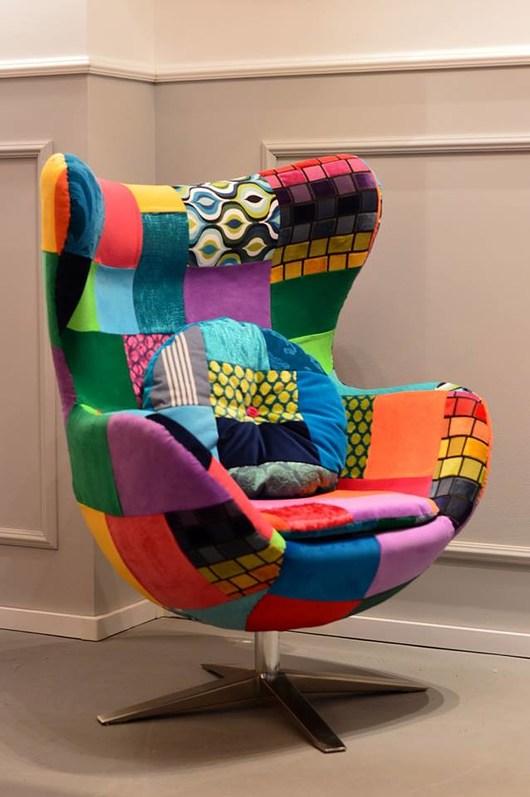 Fotel Egg Patchwork, Juicy Colors, Eggchair. - 1957979