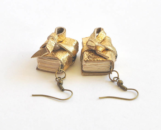 b96ce8915af1f9 kolczyki książki - Biżuteria - kolczyki - inne - Pakamera.pl