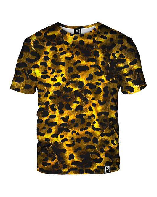 Damski T-shirt DR.CROW Gold Leopard
