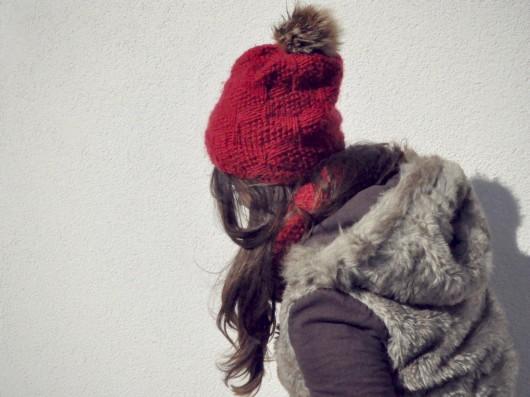 b01f0e28dd352c CUBE Red Czapka 100% WEŁNA - czapki i kapelusze - damskie - Pakamera.pl