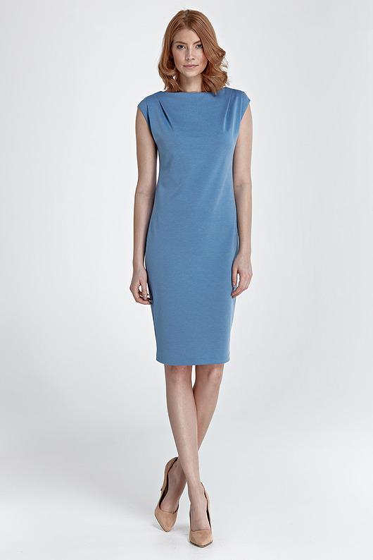 Sukienka Eva s84 - niebieski