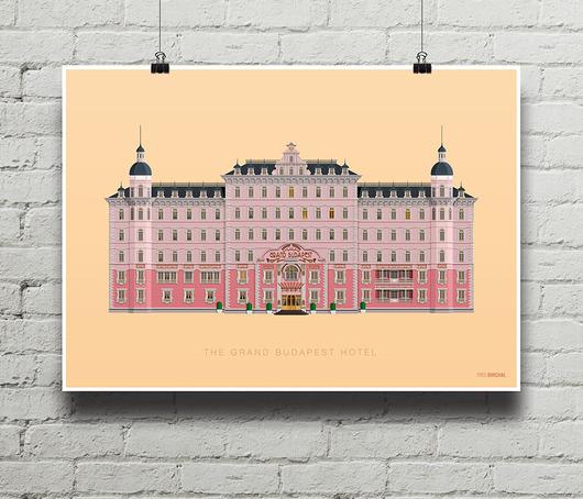 Grand Budapest Hotel Plakat