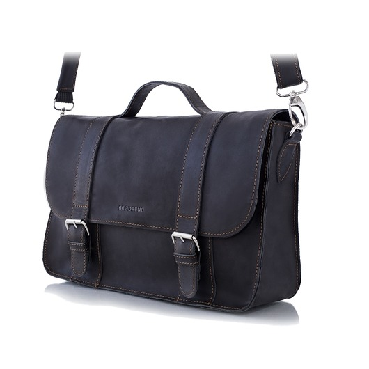 0d2063d05b832 akcesoria - torby i nerki - męskie-Czarna męska skórzana torba na ramię