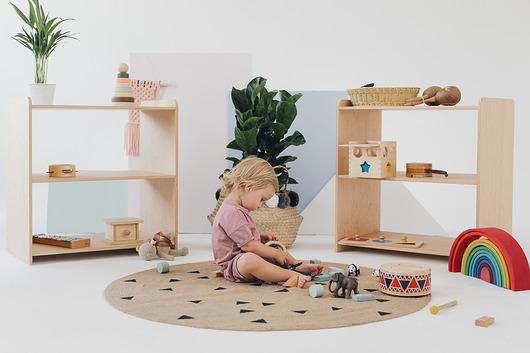 Regał na zabawki i pomoce Montessori 80 cm