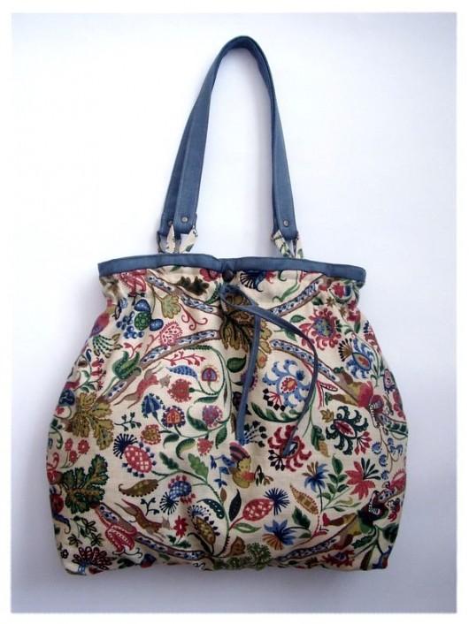 86eb72255c2ce Torebka z kolorowego lnu - zamówienie - torebki różne - damskie ...