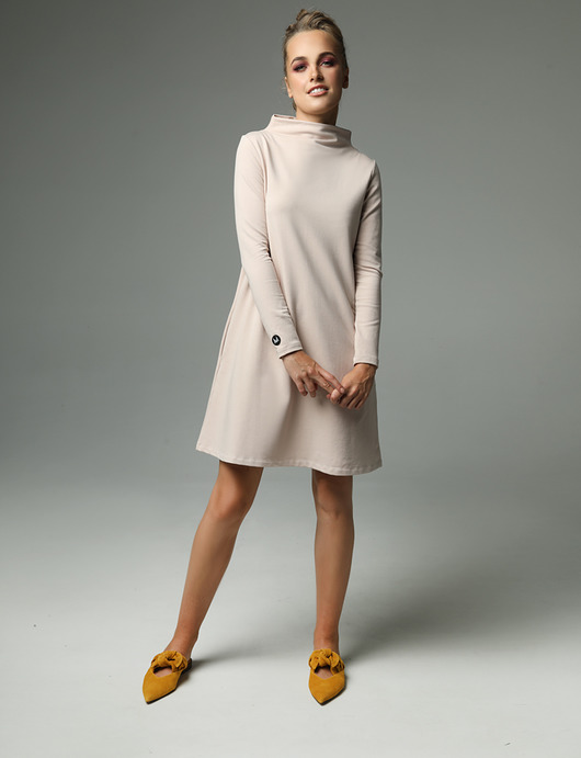 HANA - jedwabna sukienka - sukienki - mini - Pakamera.pl
