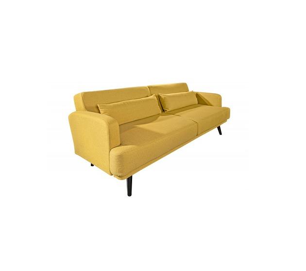 Sofa z funkcją spania Studio musztardowa 210cm