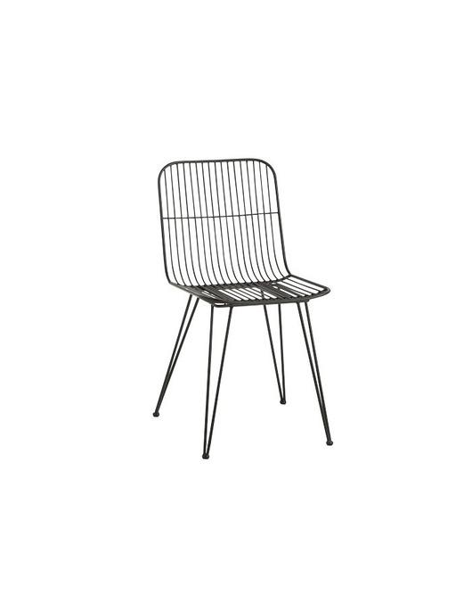 Krzesło Metalowe Milazo Czarne Meble Krzesła Pakamerapl