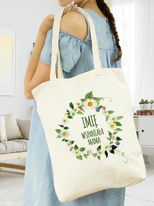 bde34162bcb00 torby na zakupy - damskie-Torba bawełniana dla mamy- Dzień Matki (imię)