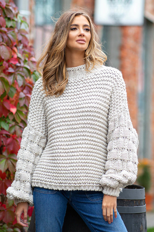 swetry-Sweter CHUNKY KNIT  F810