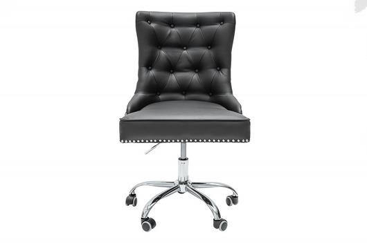 Fotel obrotowy biurowy Victoria czarny eko skóra