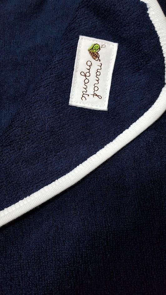 Ręcznik bambusowy z kapturem granatowy - 1933399