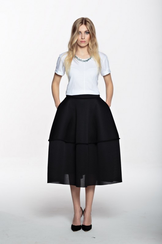 spódnice-Future Midi Basketwave skirt