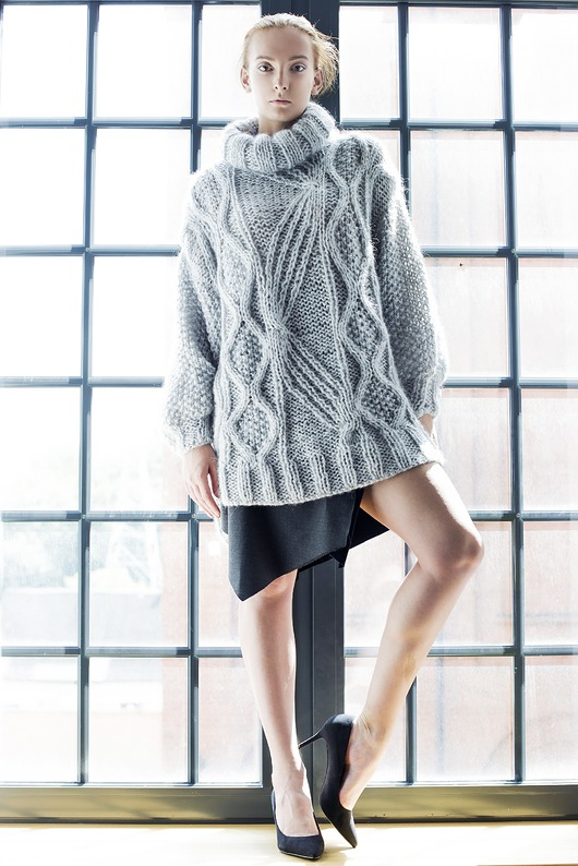 swetry-Sweter Big Grey