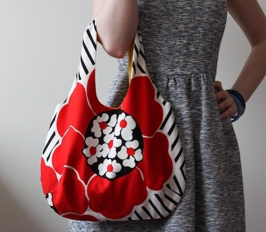 5645191b32e94 Eko torba na zakupy RED FLOWER Y - torby na zakupy - damskie ...