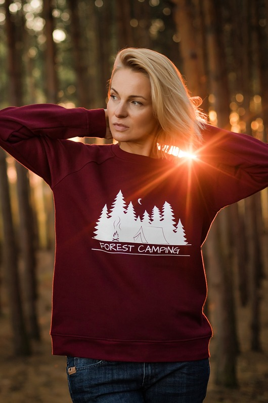 bluzy-Bluza unisex FOREST CAMPING