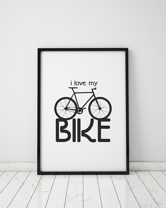 plakaty-plakat. i love my bike