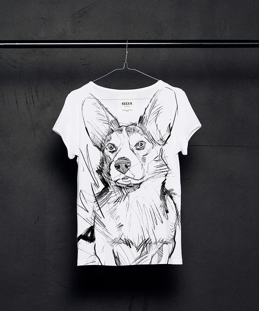 bluzki - t-shirty-Welsh-Corgi-Cardigan t-shirt woman