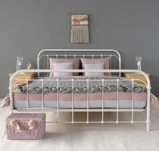 BABUNIA łóżko metalowe 140x200