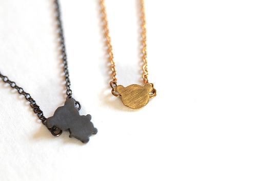 OM jewellery SmallTeddy - naszyjniki - minimalistyczne Biżuteria Damska naszyjniki QD QD-6Stała usługa