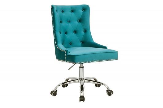 Fotel obrotowy biurowy Victoria turkus mikro