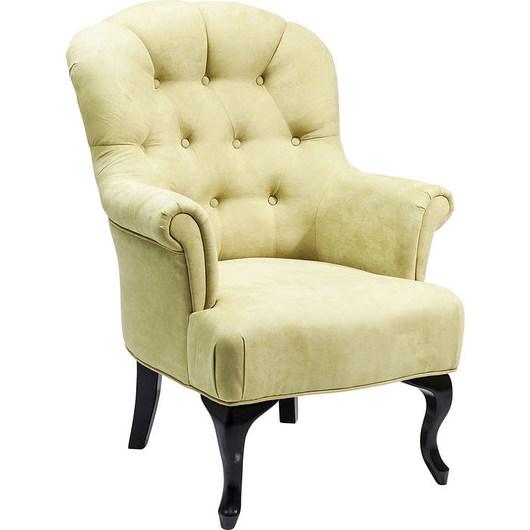 Fotel Cafehaus pastelowy pistacjowy pikowany - 1961330