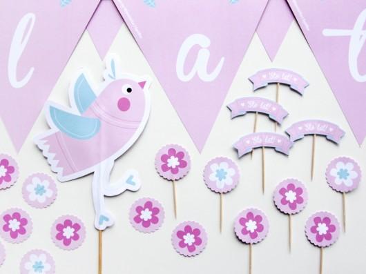 Dekoracje Personalizowane Na Urodziny Ptaszek Pokój Dziecka