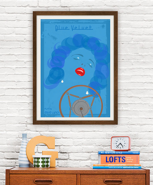 plakaty-Blue Velvet - David Lynch - plakat 50x70 cm