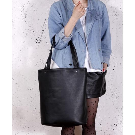 d243f12897676 torby na ramię - damskie-Shopper bag XL czarna   pojemna torba na codzień