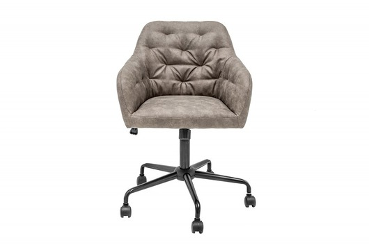 Fotel biurowy Dutch szary aksamit 82-90cm