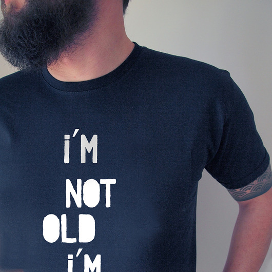 moda - t-shirty-I'm not old Nova męska czarna