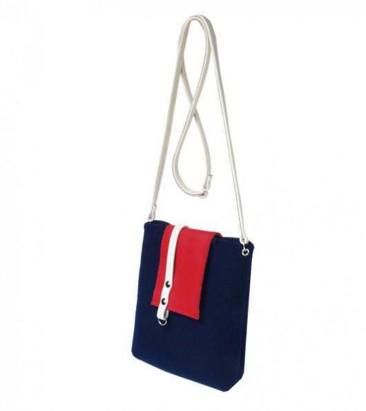 d6be8d2002708 torby na ramię - damskie-blue pas red na specjalne zamówienie pasek toffi